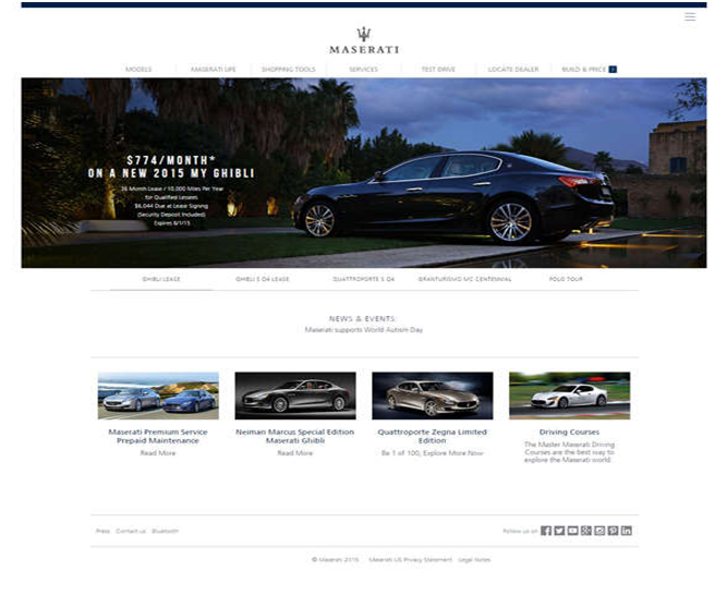 6 Best Automobile Website Designs - Webnado.com.au
